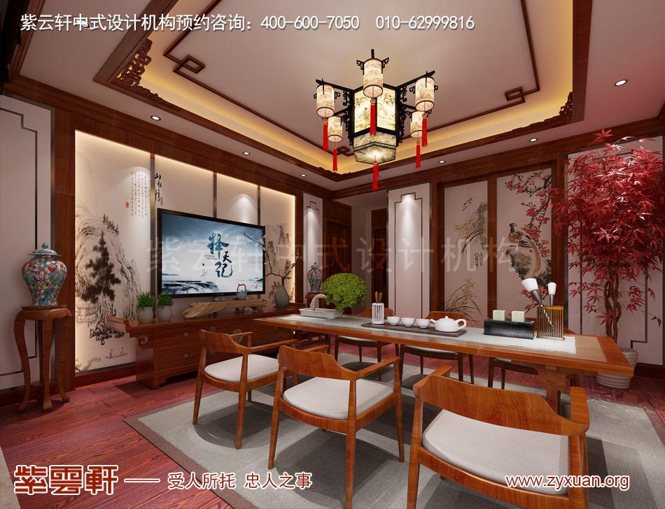传统宫廷风格平层茶室装修效果图
