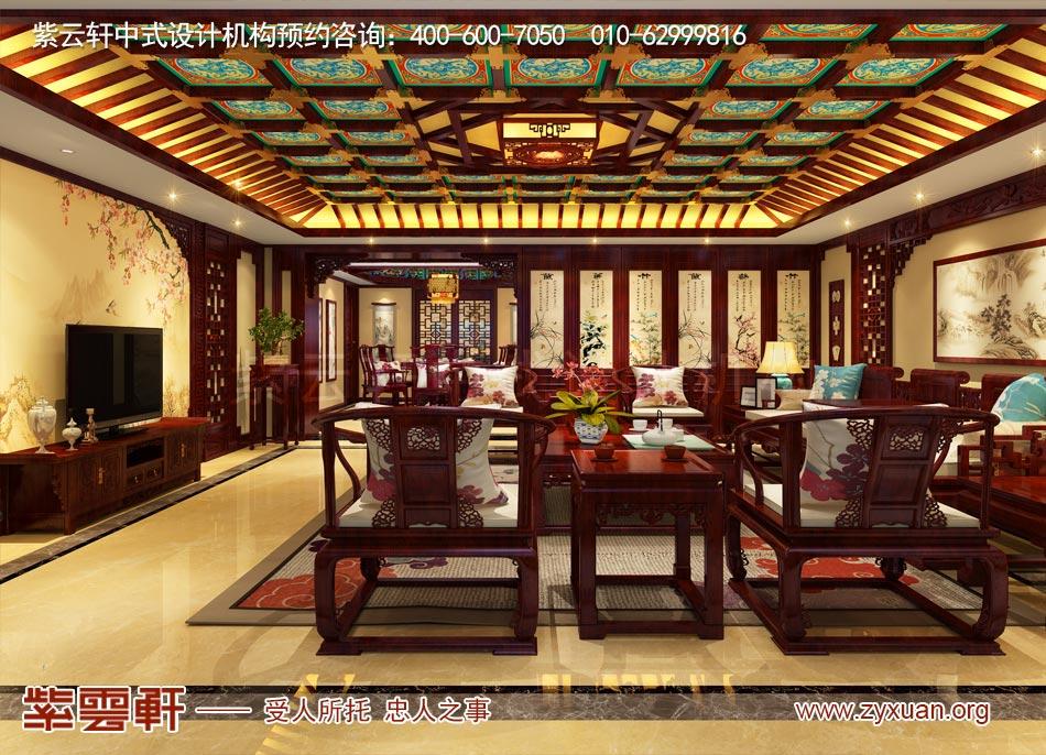 北京传统宫廷风格大平层装修效果图,端庄唯美,大气典雅