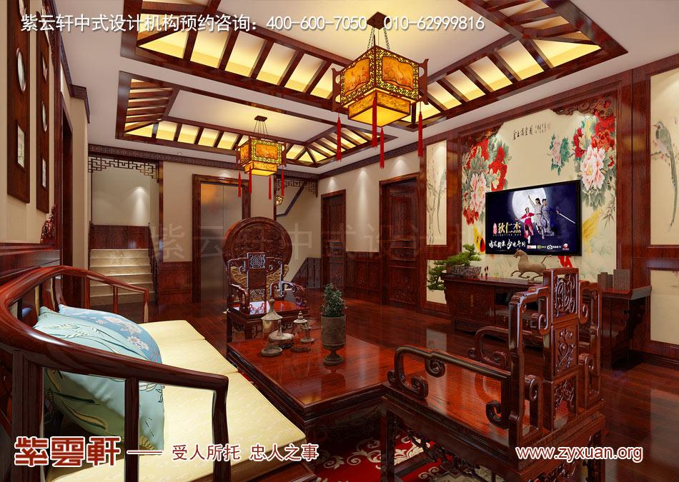 起居室现代中式风格效果图