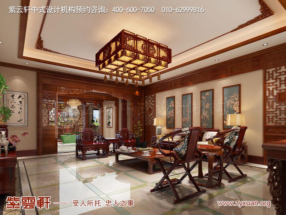 简约中式平层装修效果图的客厅设计