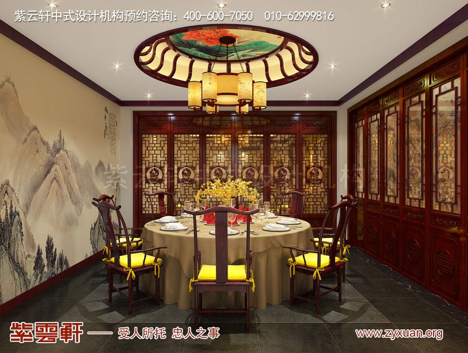 餐厅小包间现代中式风格装修效果图