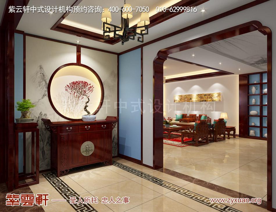 私人会所门厅现代中式风格装修效果图