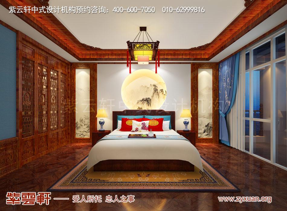 别墅卧室中式古典装修效果图