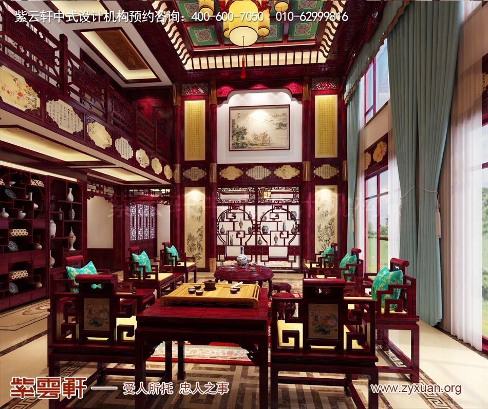 长治冯总独栋别墅中式古典装修效果图,诗意栖居的中式生活