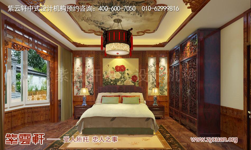 别墅老人房中式古典装修效果图