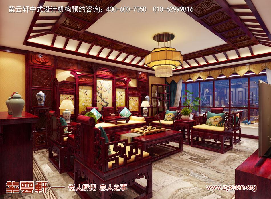 石家庄简约古典中式风格平层装修效果图案例欣赏
