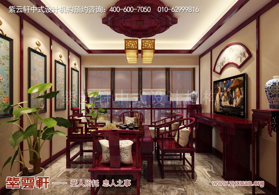 茶室简约古典中式风格装修效果图