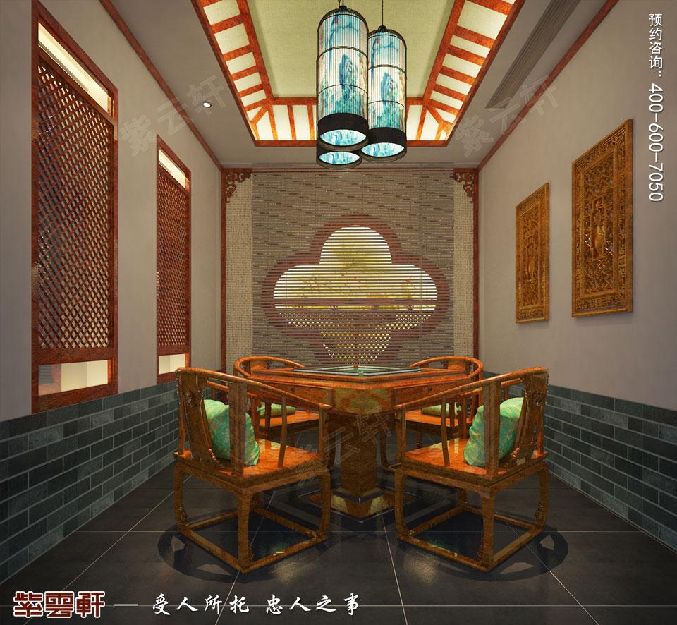 棋牌室中式装修