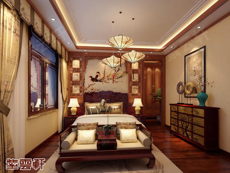 古典沉稳的老人房中式装修效果图