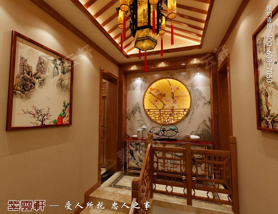 楼梯间装修古典中式效果图.jpg