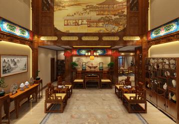 南京君越花园复式楼装修古典中式效果图 绣户文窗雕绮栊