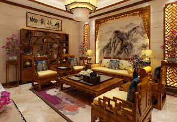 武汉龙湾别墅现代中式装饰装修案例 瑰姿艳逸,仪静体闲