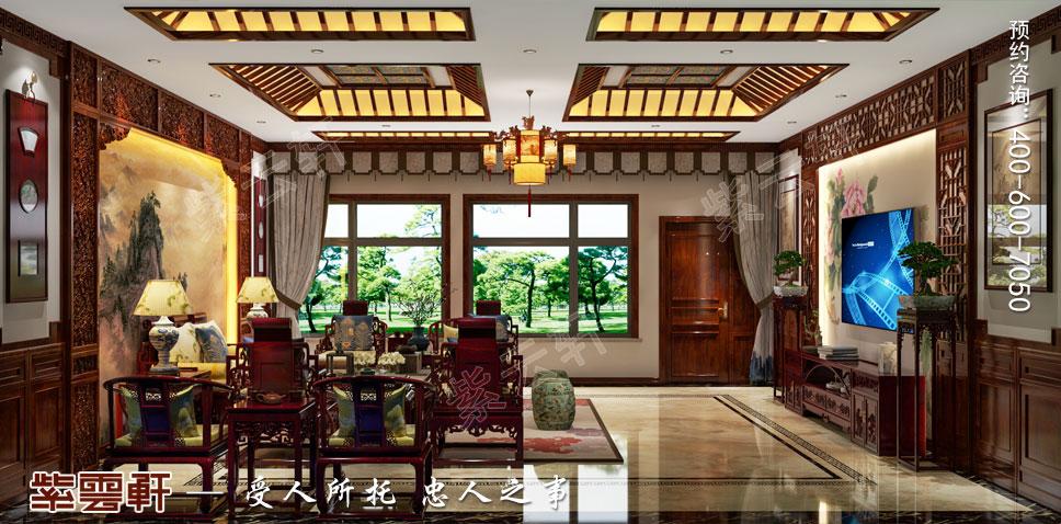 别墅起居客厅中式装饰图片.jpg