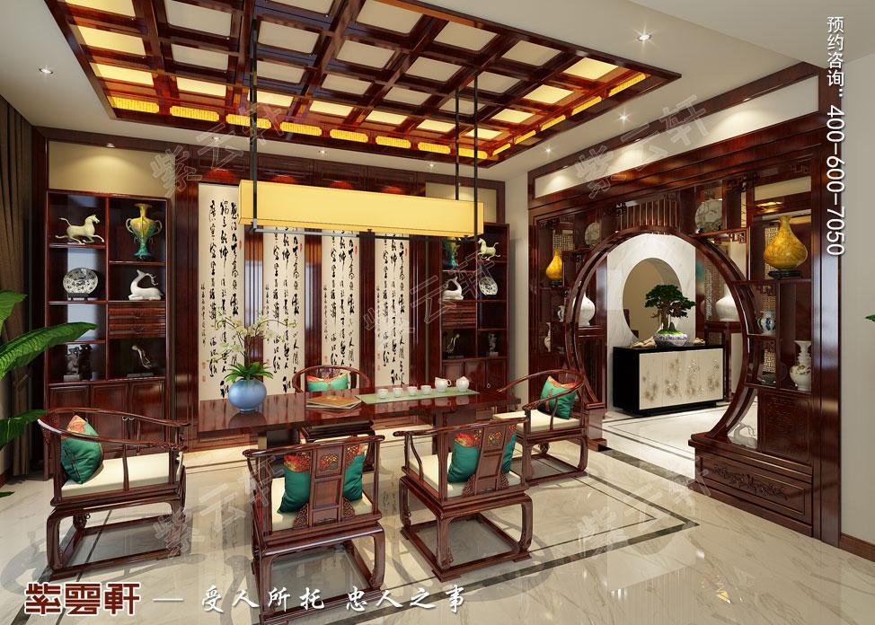 别墅茶室中式装饰图片