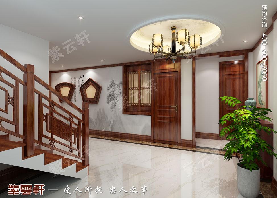 别墅走廊中式装饰图片