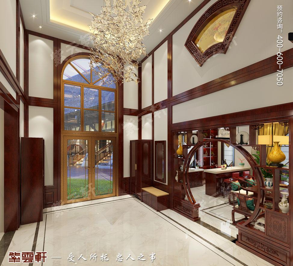 别墅门厅中式装饰图片.jpg