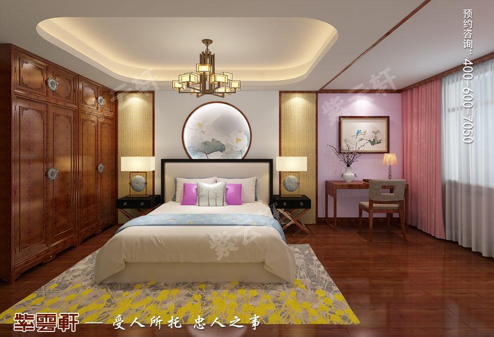 别墅女儿房中式装饰图片