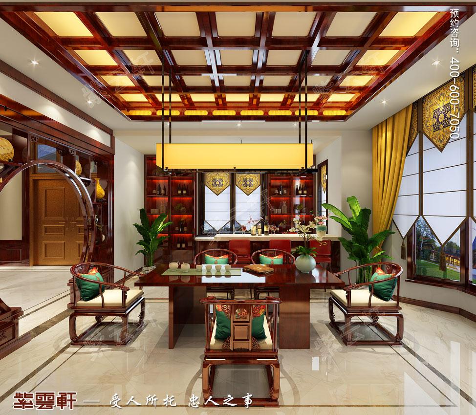 别墅茶室吧台中式装饰图片
