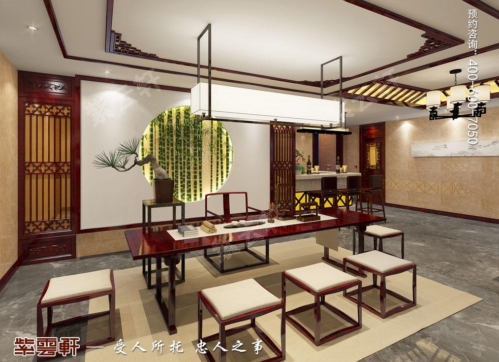 别墅地下室茶室中式装饰图片