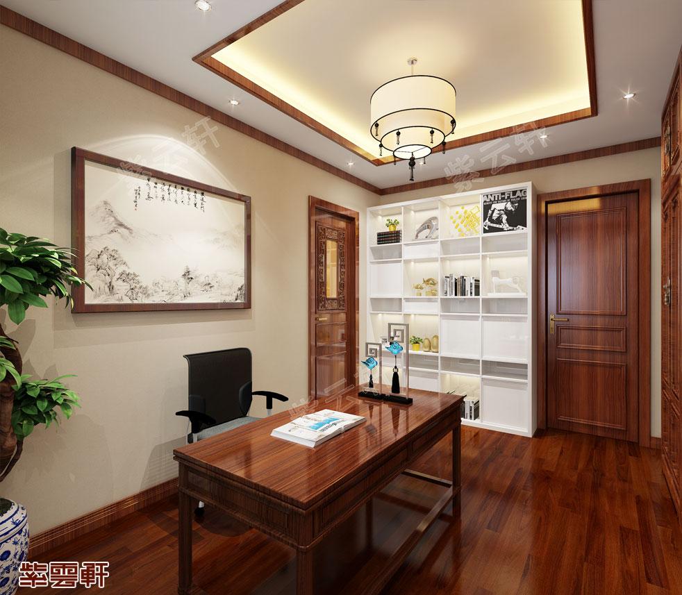 别墅书房中式装饰图片.jpg