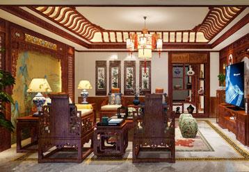莱阳双拼别墅简约古典中式装饰效果图 简约内敛、精致古典