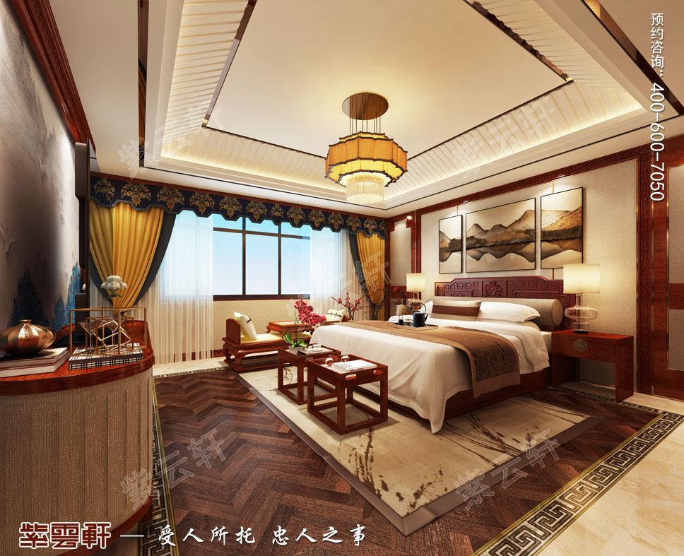 别墅女儿房卧室简约古典中式装饰效果图