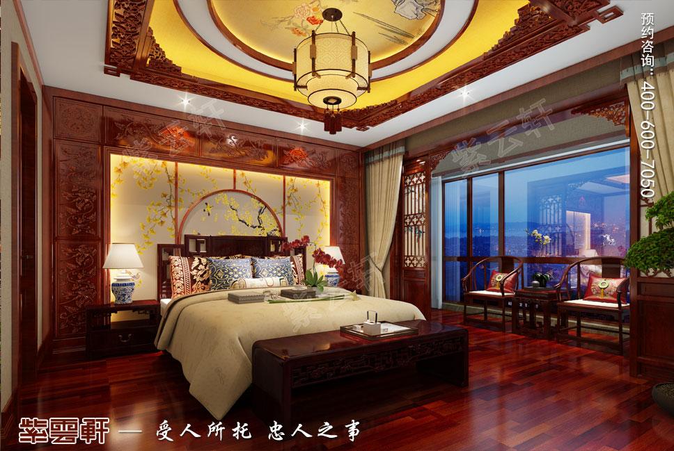 一层老人房简约古典中式装修图片
