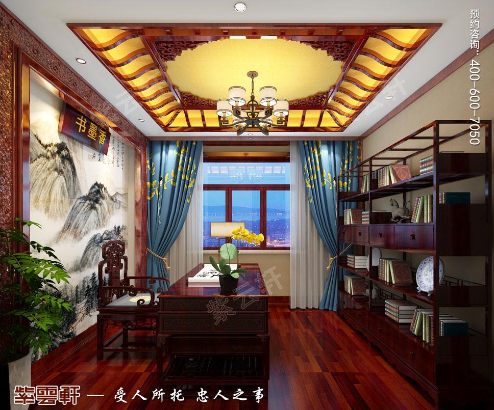 书房简约古典中式装修图片