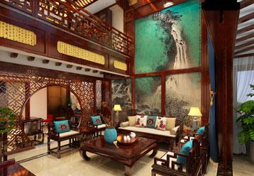 河南灵宝复式楼简约古典中式装修案例  华而不凡 雅致经典