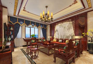 南通蔡女士别墅简约古典中式装修效果图  雕栏玉砌 如诗如画