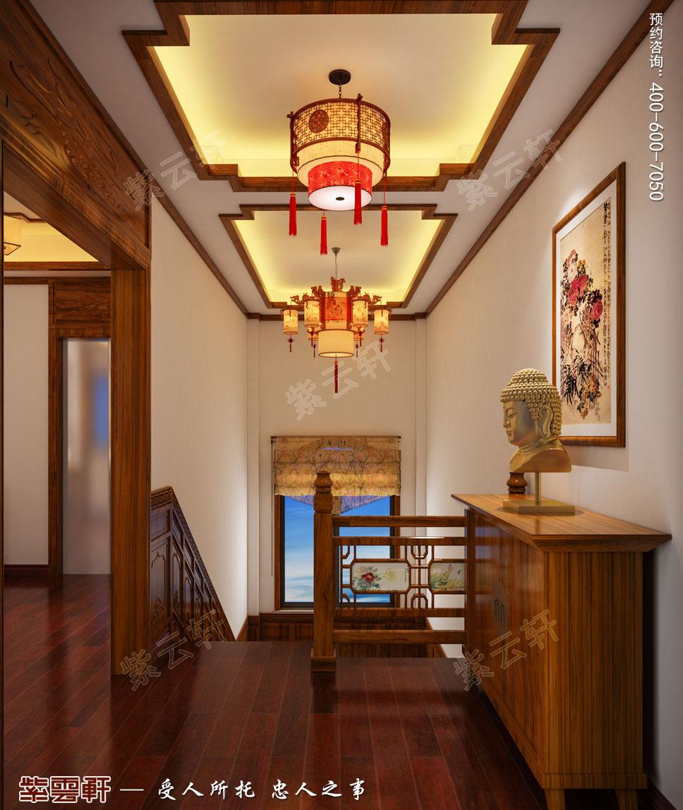 楼梯间简约古典中式装修图片