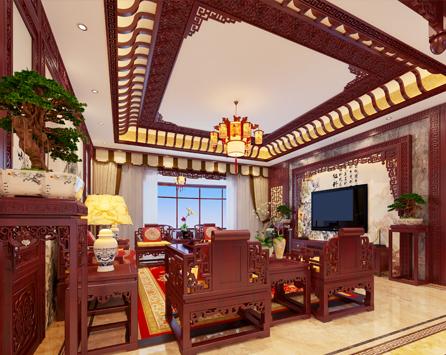 运城简约中式古典风格装修案例  简约逾前古,中式美不疑