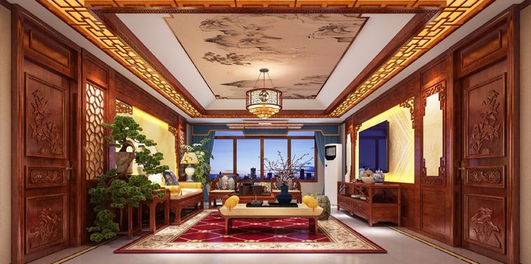 威海刘总古典中式装饰效果图 光润玉颜,皓质呈露