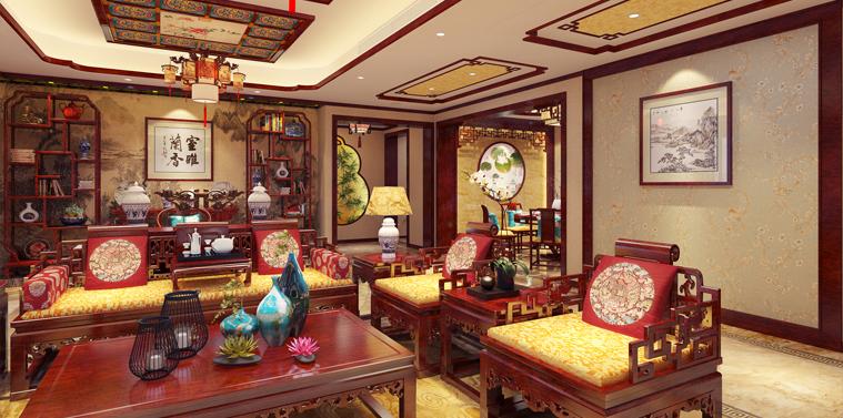 洛阳平层简约中式装修案例  清朗俊逸,一派从容