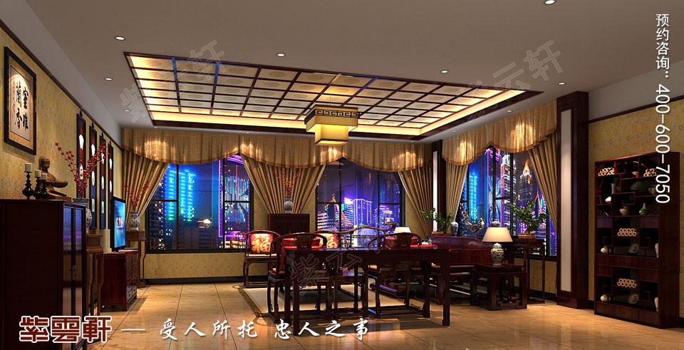会客厅古典中式装修效果图