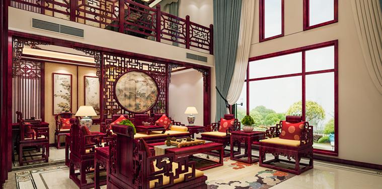 绍兴复式楼现代中式风格装修效果图 典则俊雅,气质出众