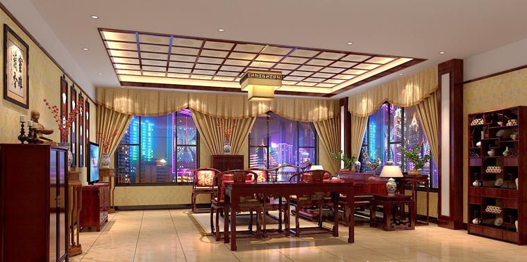 北京钓鱼台别墅豪宅古典中式装修案例 华美温馨古典优雅