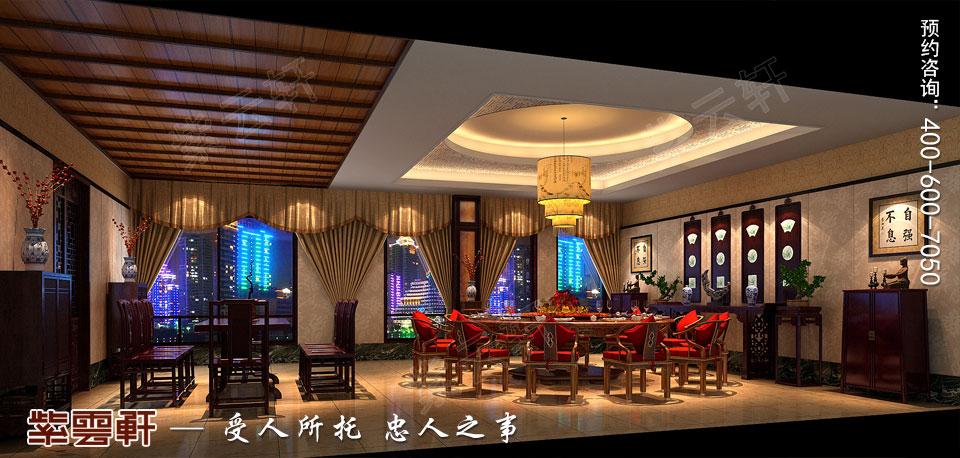 大小餐厅古典中式装修效果图
