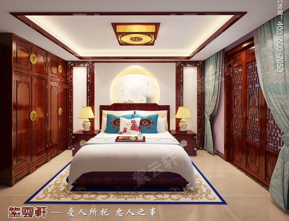 平层次卧简约古典中式装修图片