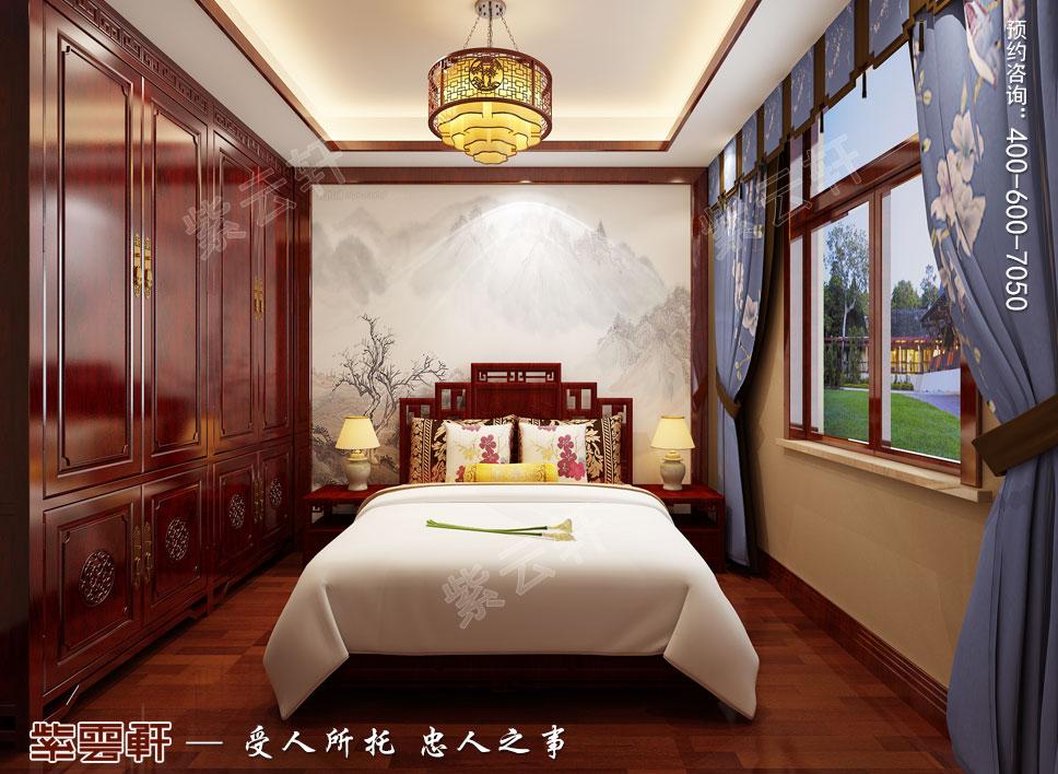 别墅客卧简约古典中式装修效果图