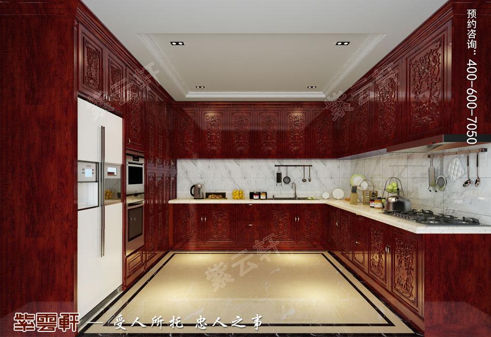 别墅厨房简约古典中式装修效果图