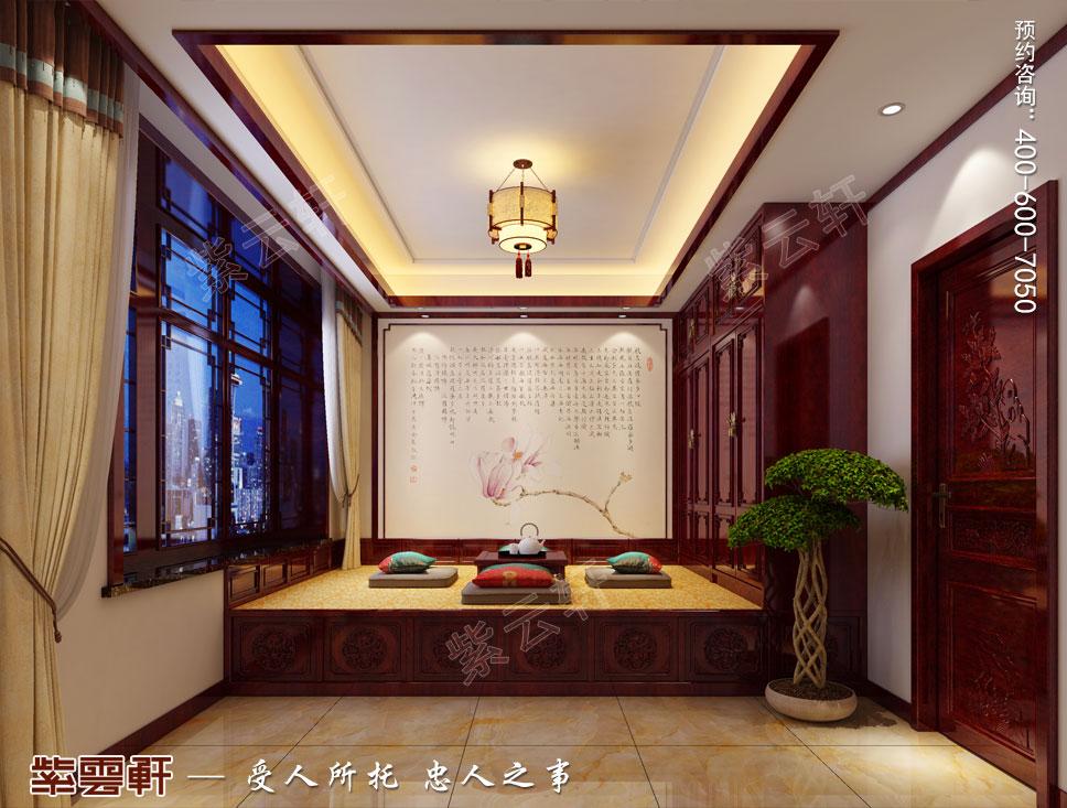 别墅榻榻米现代中式设计效果图