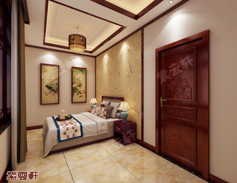 别墅次卧现代中式设计效果图