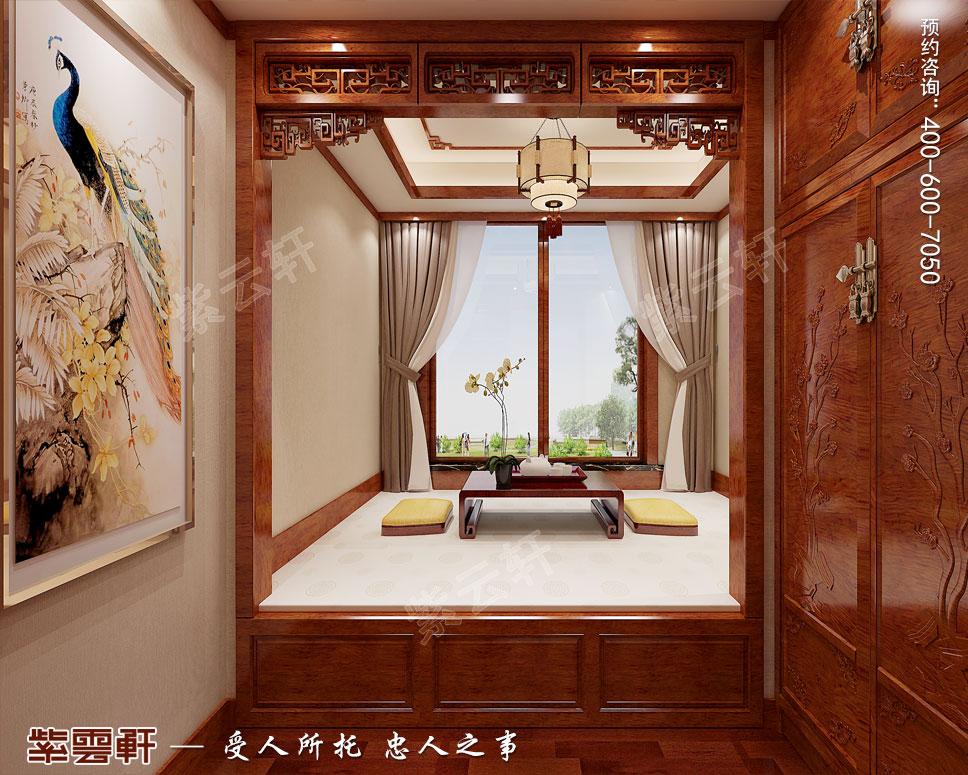 别墅暖阁现代中式设计效果图
