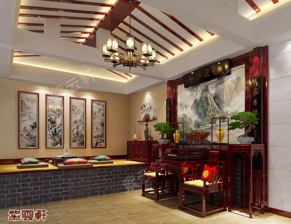 别墅西厢房现代中式设计效果图
