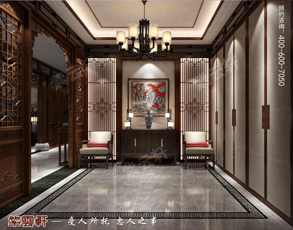 一层玄关现代中式装饰效果图