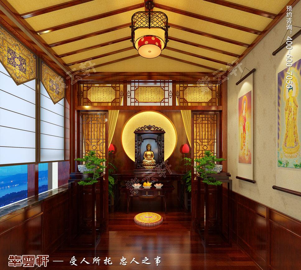 别墅佛堂古典中式装修图