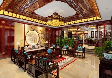 内蒙古满洲里独栋别墅古典中式装修效果图 金碧辉煌 富丽奢华