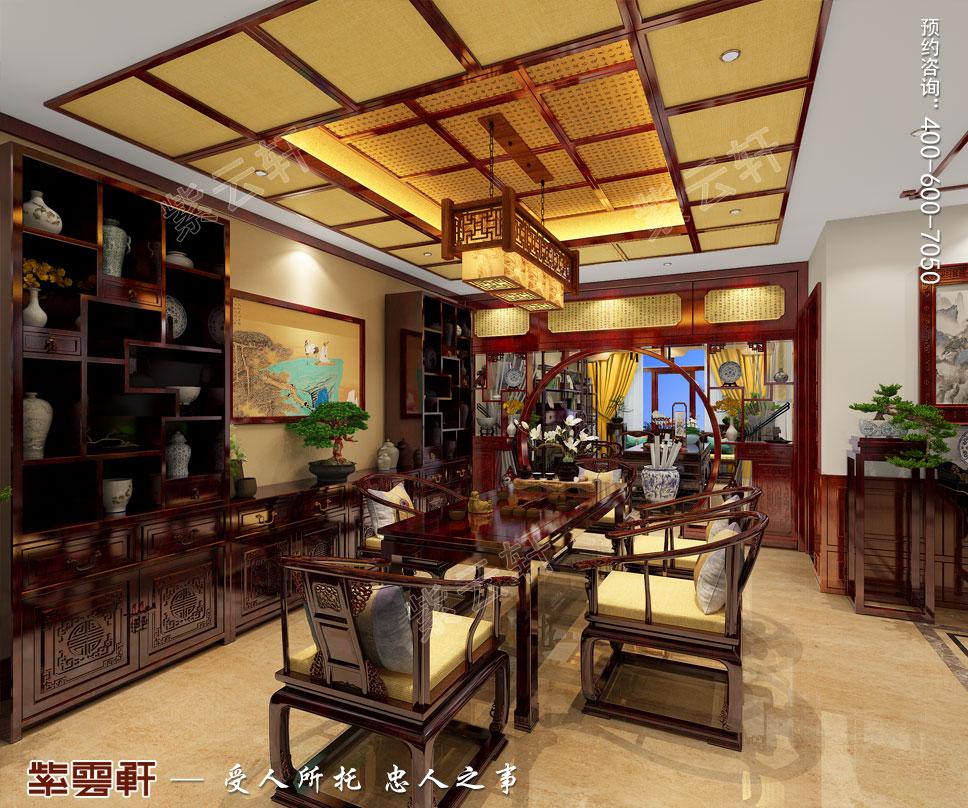别墅茶室古典中式装修图
