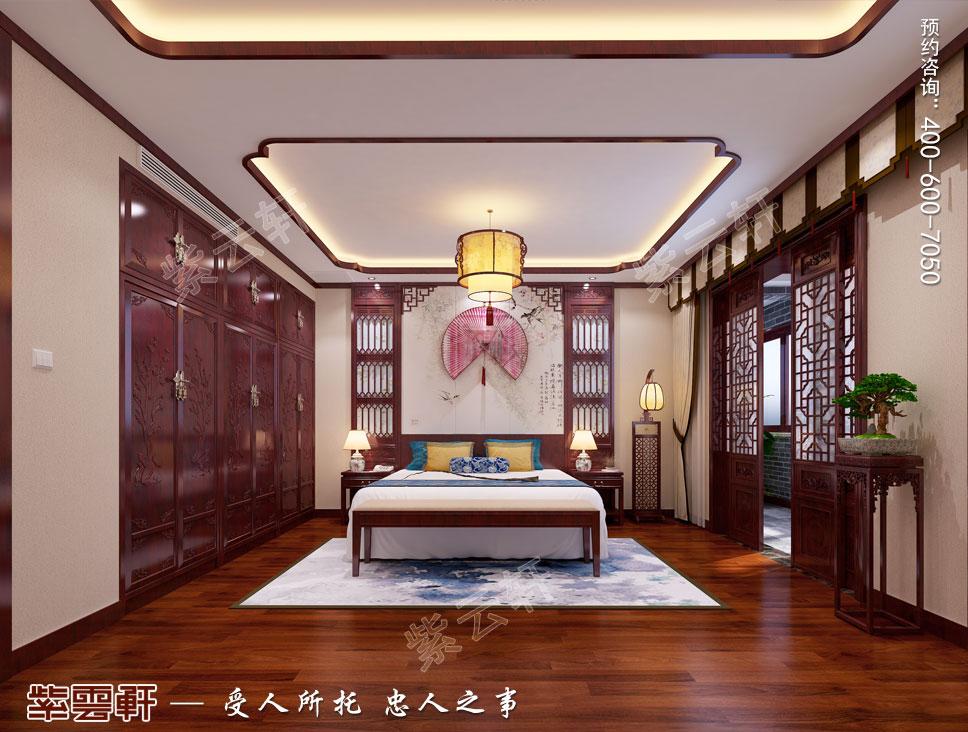 别墅客卧现代中式装修效果图